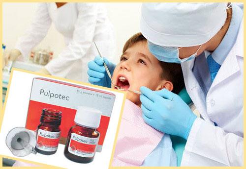 Лечение зубов детям и препарат Пульпотек