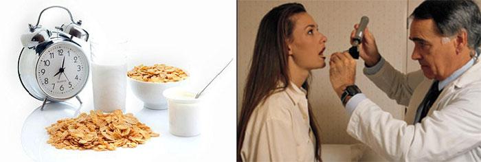 Режим здорового питания и осмотр у врача