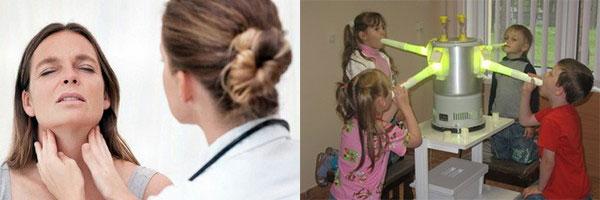 Лазерное лечение тонзиллита и массаж