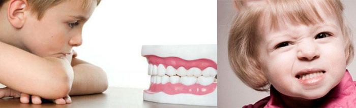 Дети челюсти и скрип зубов