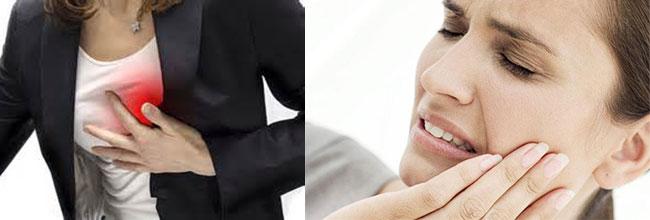 Сердечный приступ и зубная боль