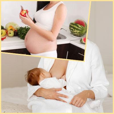 Беременная женщина и кормящая мама