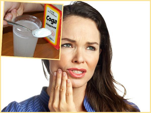 Болит зуб полоскание содовым раствором