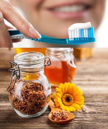 Чистка зубов и отвары из трав