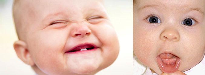 Дети без зубов и с началом их роста