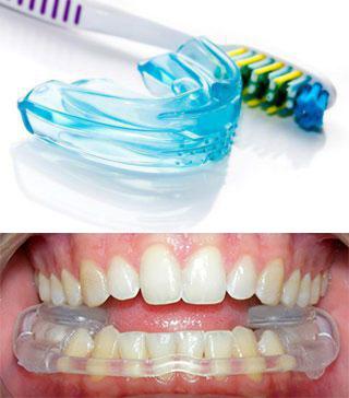 Капы для челюстей и зубная щетка