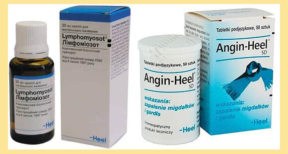 ангин-хель, лимфомиозот